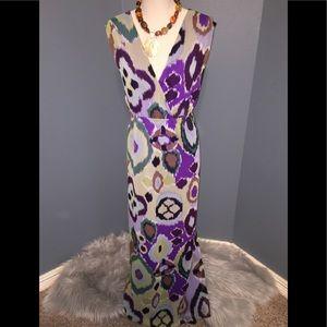 Chico's Artsy Abstract Maxi Sun Dress, Size 2.5